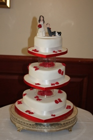 Love Hearts Wedding Cake